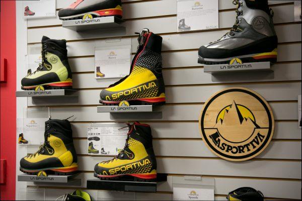 La Sportiva boots at IME