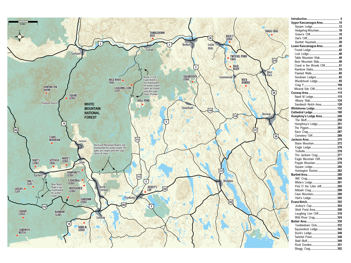 North Conway Rock Climbs International Mountain Equipment - North convey in us map