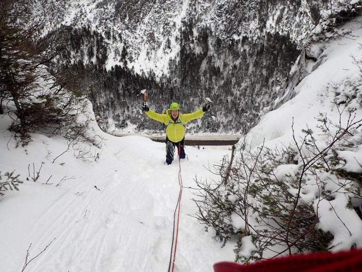 Nearing the top of Parasol Gully