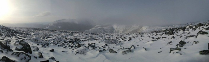 The view from our tent on Sunday Morning.