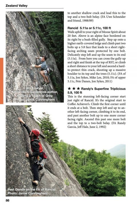 The Notches: A Rock Climber's Guide to the Western White Mountains of New Hampshire by Jon Sykes.